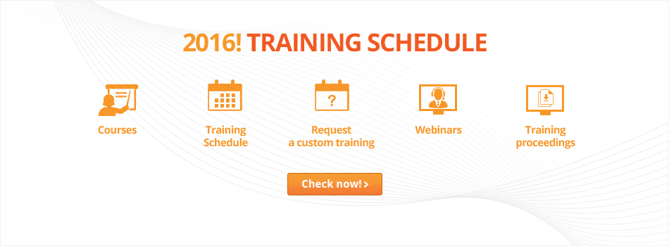 Training schedule for 2016!