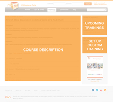 Training Course Detail Page