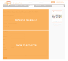 Training Schedule Detail Page