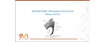 ESI PAM-STAMP - Minimization of Try-Out Cost (Release V2019.0)