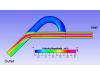 Visualizing particle size effect on Spray particle trajectory