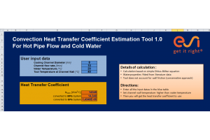 Convection Heat Transfer Coefficient Estimation Tool 1.0