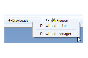 Workflow toolbar with Drawbead Manager for PAM-STAMP 2020.5