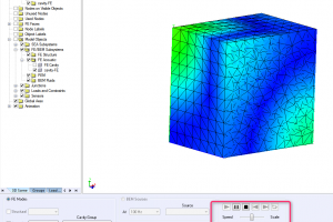 Visualize modal animation inside acoustic cavity