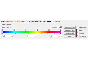 CFD-VIEW Colormap Options: Static, Dynamic, and Cumulative
