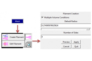 Filament feature in CFD-ACE+