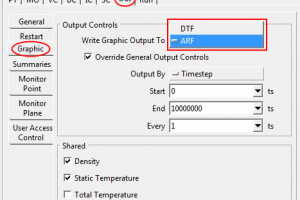 Reducing Disk Space Usage for Transient Simulations: the ARF Option