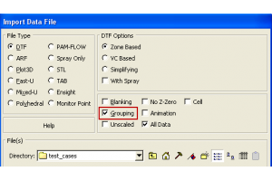 Grouping option for CFD-VIEW Data Import