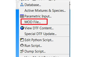 Using the MOD File Facility for Run-Time Modification of the Radiation Solver Control Parameters