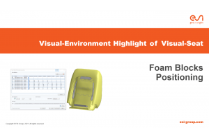 Visual-Environment Highlight of Visual-Seat: Foam Blocks Positioning