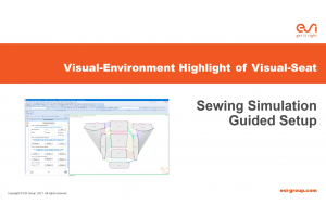 Visual-Environment Highlight of Visual-Seat: Sewing Simulation Guided Setup