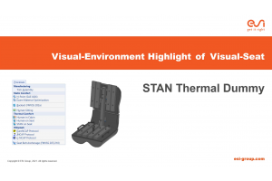 Visual-Environment Highlight of Visual-Seat: STAN Thermal Dummy