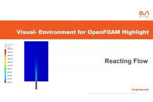 Visual-Environment Highlight of Visual-CFD: Reacting Species