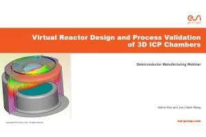 Virtual Reactor Design and Process Validation of 3D ICP Chambers