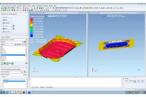 Thermoforming simulation for organo-sheet composites parts