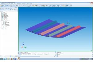 Control geometrical deformations of manufactured composites parts