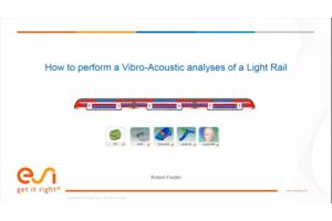 How to perform a Vibro-Acoustic analyses of a Light Rail