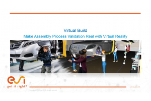 Virtual Build - Make Assembly Process Validation Real with Virtual Reality