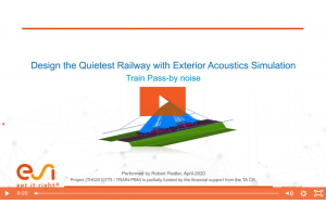 Design the Quietest Railway with Exterior Acoustics Simulation