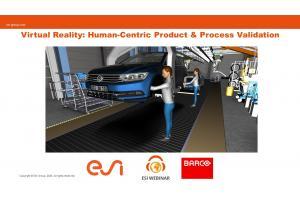 Virtual Reality: Human-Centric Product & Process Validation