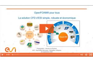 OpenFOAM en toute simplicité avec la solution Visual CFD d'ESI