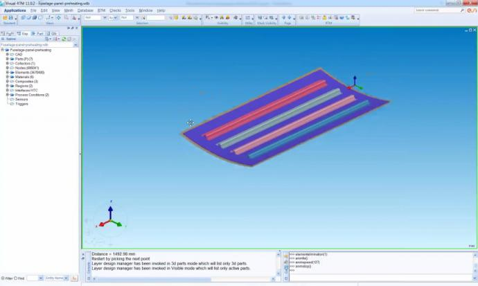 Manufacturing of a composites fuselage panel: the added-value of simulation