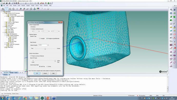 How do I create a vibro-acoustic model of a loudspeaker