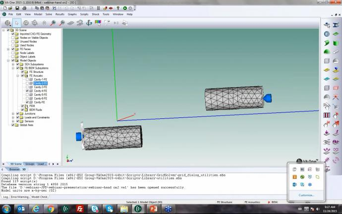 How can I model Muffler radiation taking into account flow and thermal effects