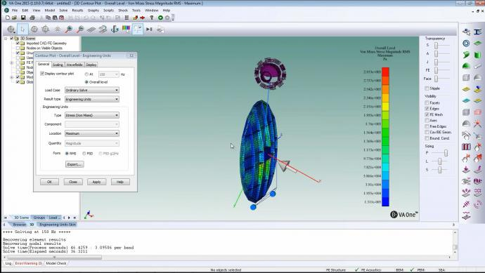 How do I model large aerospace structures for full frequency response