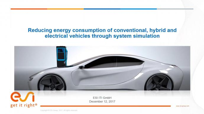 Reducing energy consumption of conventional, hybrid and electrical vehicles through system simulation