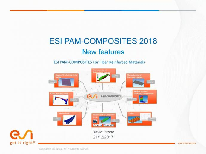 PAM-COMPOSITES 2018: What's new?