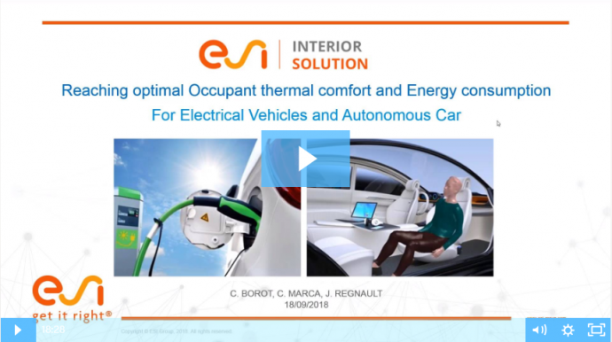 Interior Energy Management & Thermal Comfort for EVs