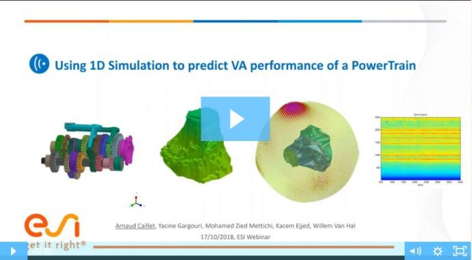Using 1D Simulation to predict VA performance of a PowerTrain