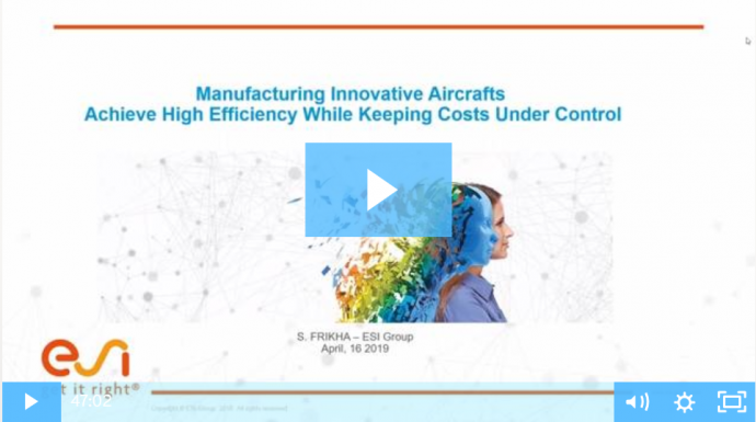 Manufacturing Innovative Aircrafts: Achieve high efficiency while keeping costs under control