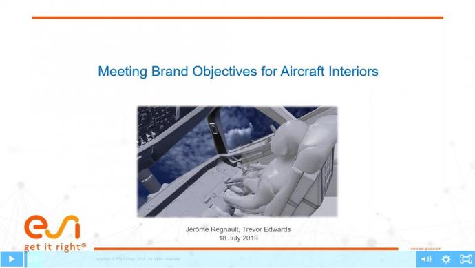 Cabin and Cockpit of the Future: Meeting Brand Objectives for Aircraft Interiors