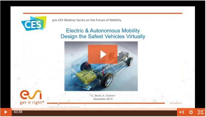 Electric & Autonomous Mobility - Design the Safest Vehicles Virtually
