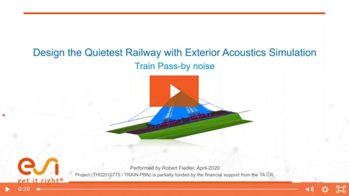 Design the Quietest Railway with Exterior Acoustics Simulation