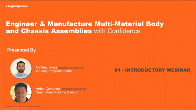 Engineer & Manufacture Multi-Material Body and Chassis Assemblies with Confidence